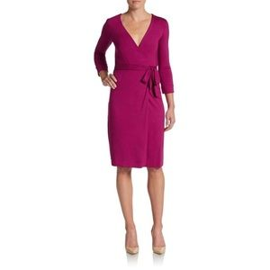 DVF Julian Two Wrap Dress in Berry SIZE 0